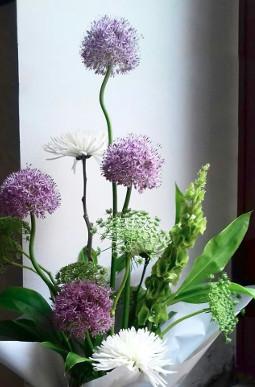 centro flores tallo alto