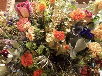 centro flor seca color
