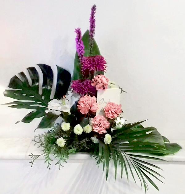 Arreglo floral en memoria