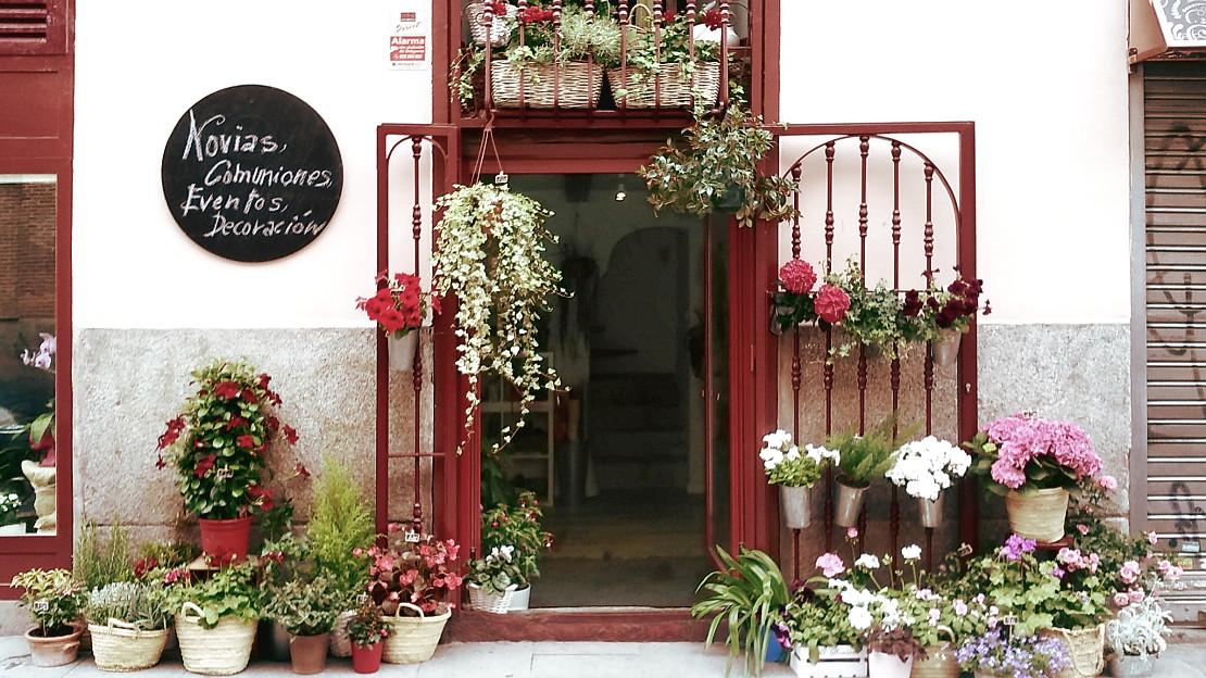 Entrada al Taller de a rte floral Flor de Lola